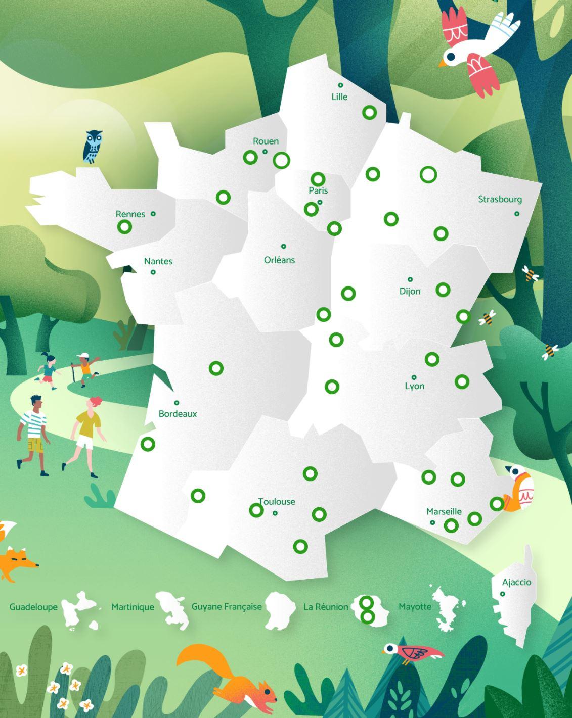 Office national des forêts ONF Carte Intéractive recherche arpenter France